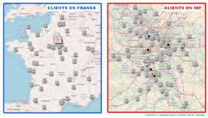 clients arc gestion, zone d'intervention
